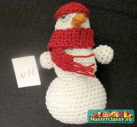 Мастер класс вязаный снеговик