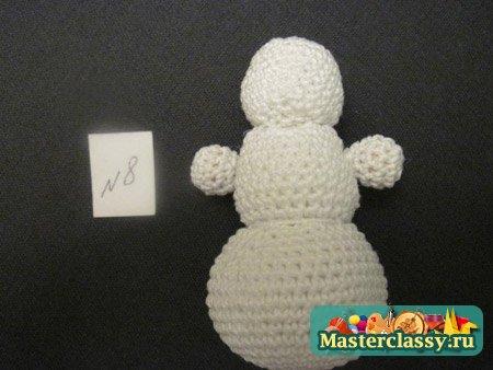 Мастер-класс вязаный снеговик